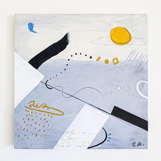 """Abstract Painting - Diem (Original, 30""""x30""""   76x76 cm)"""
