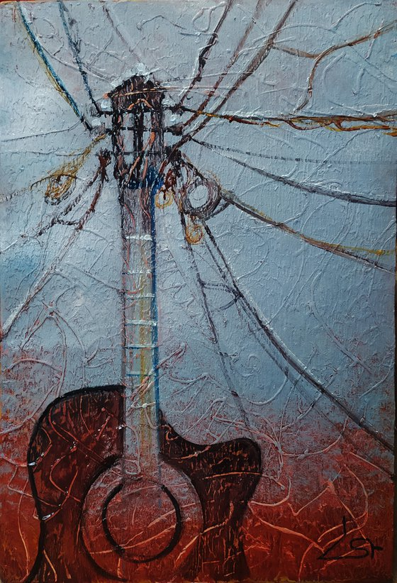 Chords(39x58cm, oil painting, ready to hang, framed)