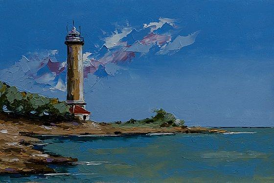 Savudrija light house in Croatia. Adriatic sea
