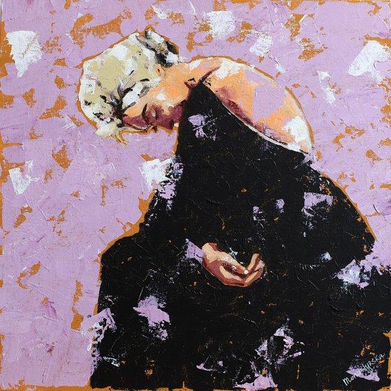 Marilyn (30x30 cm) acrylic painting on canvas
