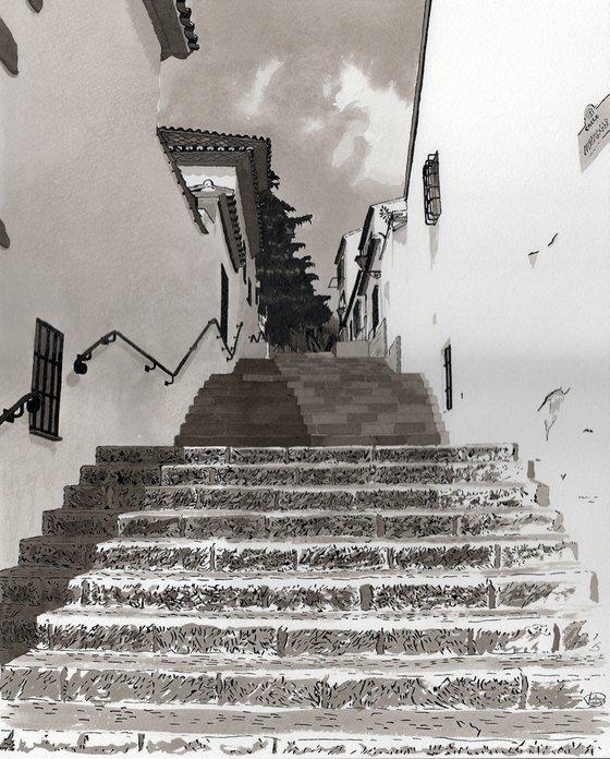 Escalier à Rona-Andalousie