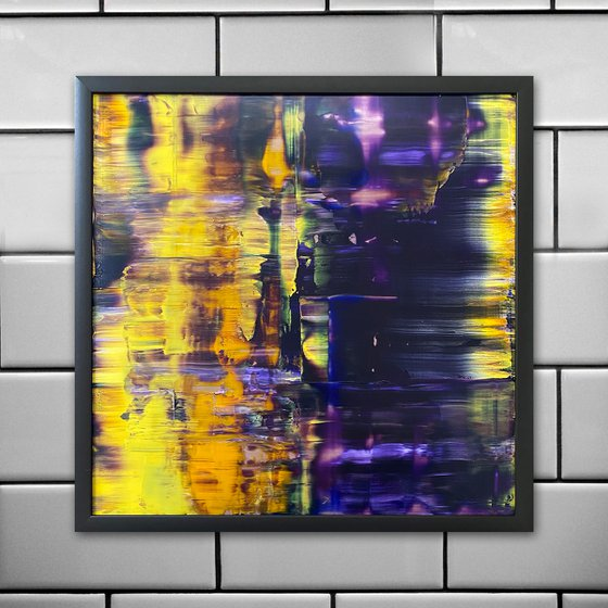 """""""Clairvoyant"""" - Original PMS Oil Painting On Plexiglass, Framed - 26 x 26 inches"""