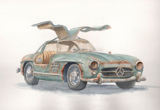 Mercedes Gullwing - wings clipped
