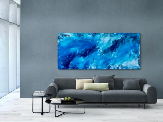 Atlantic crossing XXL No. 5221 Abstract in blue