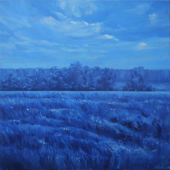 Blue landscape-oil on canvas