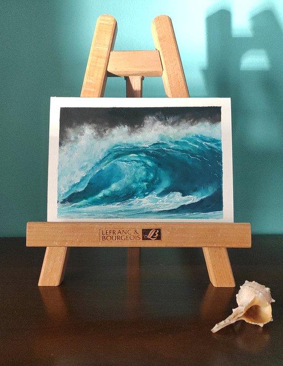 seascape wave on paper #003