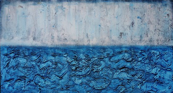 Abstract,white,blue, christmas sale was 595 USD now 445 USD.