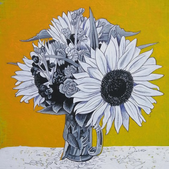 The Sunflower in white
