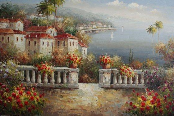 """""""Mediterranean"""". Canvas, oil. Size 90x60 cm"""