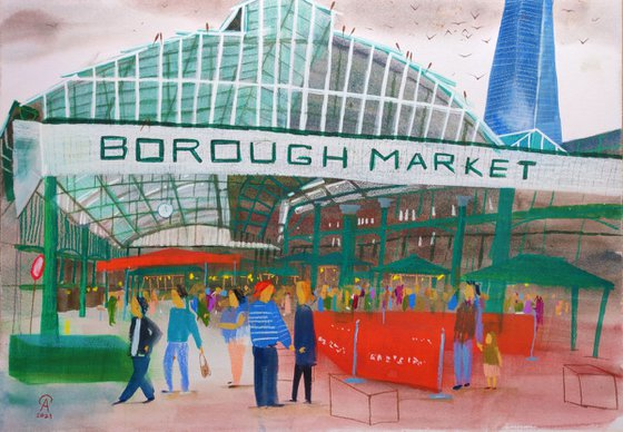 Borough Market on a rainy day
