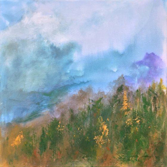 Early Light 1 - Acrylic painting, 50 x 50cm
