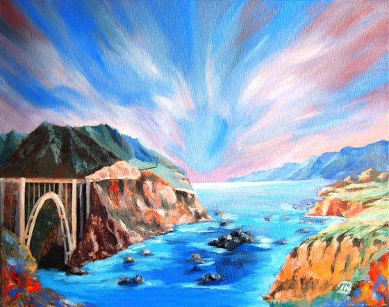 Morning light over Bixby Bridge - Big Sur