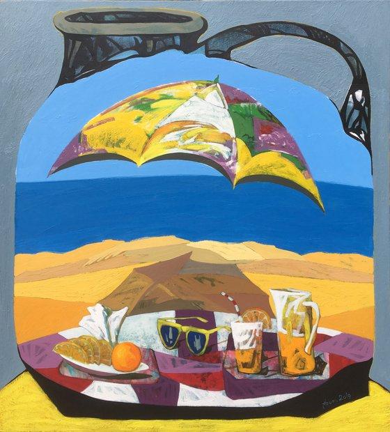 Recreation(110x100cm, oil painting)
