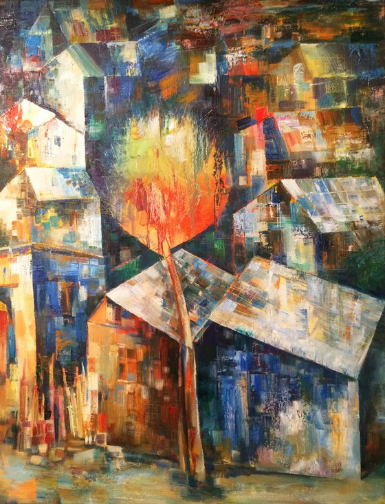 Autumn night (60x50cm oil/canvas)