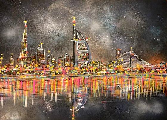 Dubai Skyline - Painting on canvas