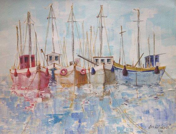 A few boats resting