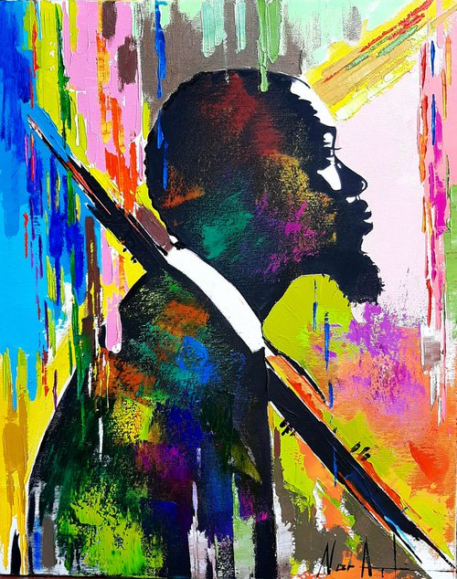 Eric Dolphy (40x50cm, oil/canvas, ready to hang, Modern portraits)