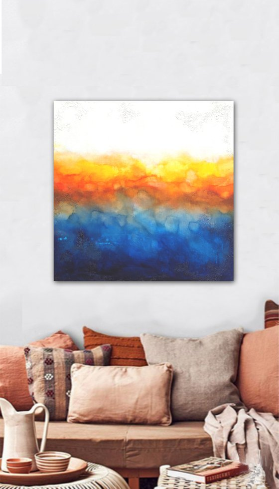 calm dusk (90 x 90 cm) Dee Brown Artworks