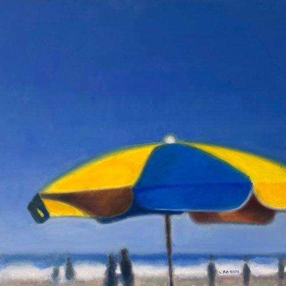 """Beach Umbrella 16x16"""" in 41x41 cm"""