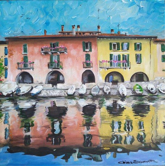 Porto di Riva Granda, Mandello del Lario, Lecco (IT) Vista dal lago 2