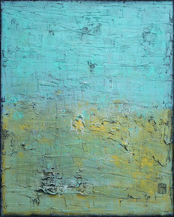 A169 (Contemporary abstract Spiritual Architecture Landscape Acrylic on canvas Large wall art Painting Series)