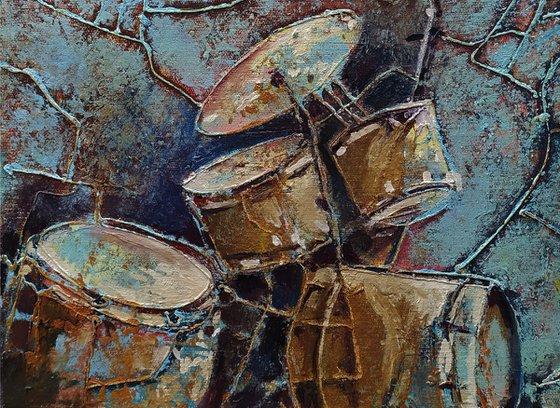 Rhythm - 1(30x40cm, oil painting, ready to hang)