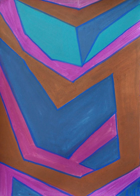11.08.2020, a series of 8 abstract paintings, gouache on paper