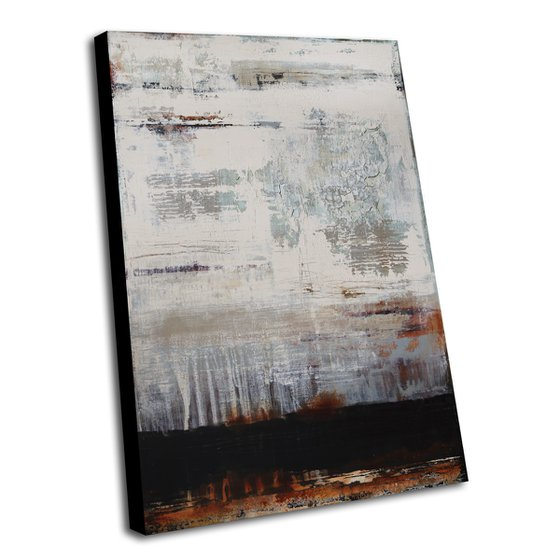 LOST CONJUNCTION - 100 X 70 CMS - ABSTRACT PAINTING TEXTURED * PASTEL COLORS