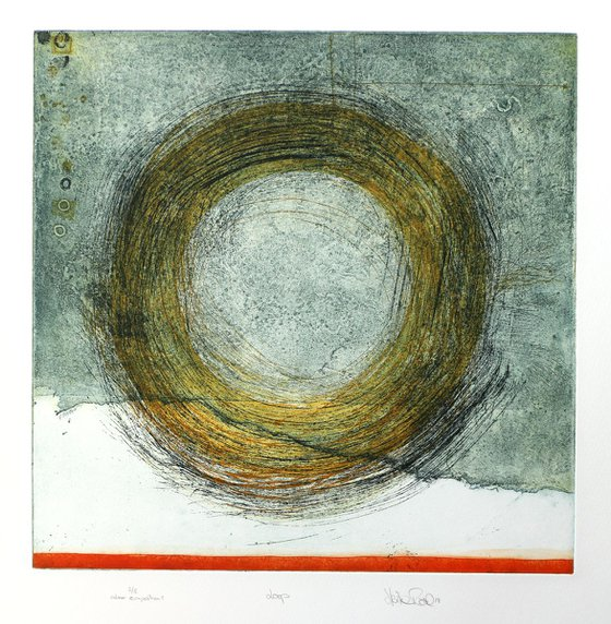 """Heike Roesel """"Loop"""" (colour composition1) fine art etching in edition of 5"""