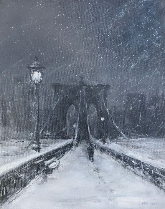 Brooklyn Bridge - Cold Night