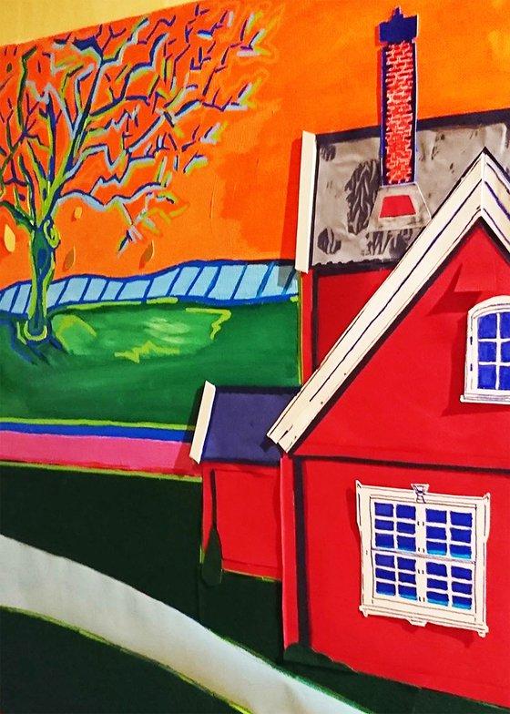 House n°8 : Orange sunset sky
