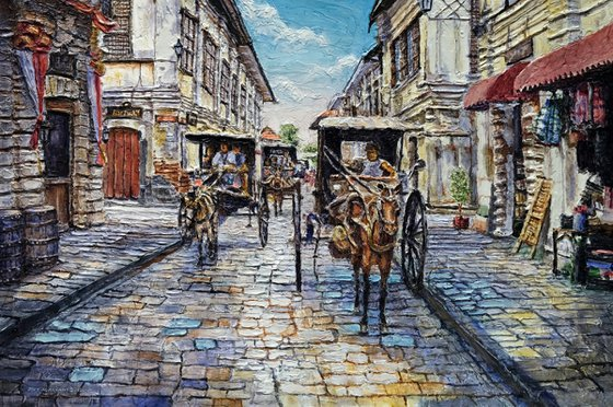 Three Carriages on Crisologo Street
