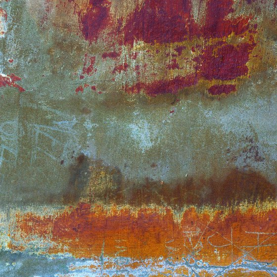 St Kilda, abstract impressionist Scottish island landscape