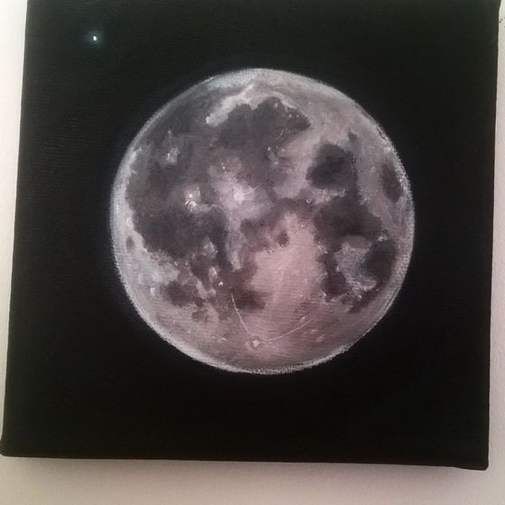 Moon and Star 15 x 15 cm (open to offers)