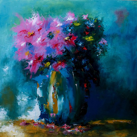 Still life painting. Modern art painting. Gift for her