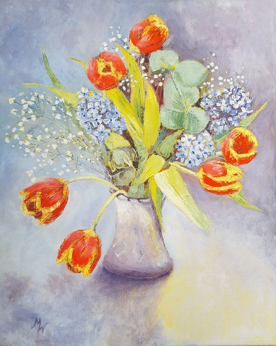 Spring Flowers with Tulips