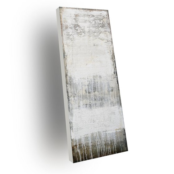 PURITY - ABSTRACT ACRYLIC PAINTING TEXTURED * PASTEL COLORS * READY TO HANG