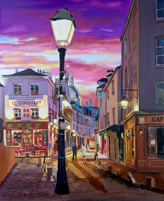 Paris Montmartre oil painting on canvas