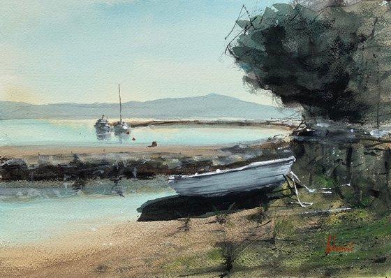 ...boat on shore