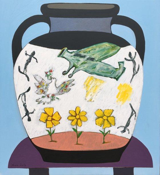 Big Vase 1 (110x100cm, oil painting)