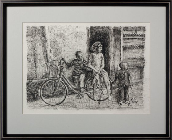 Children on the bike