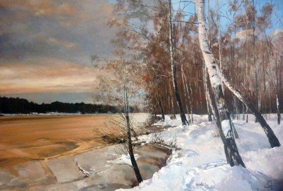 Winter River Bank