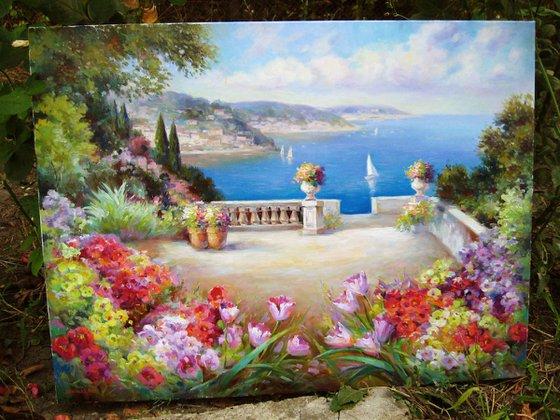 Mediterranean landscape by photo