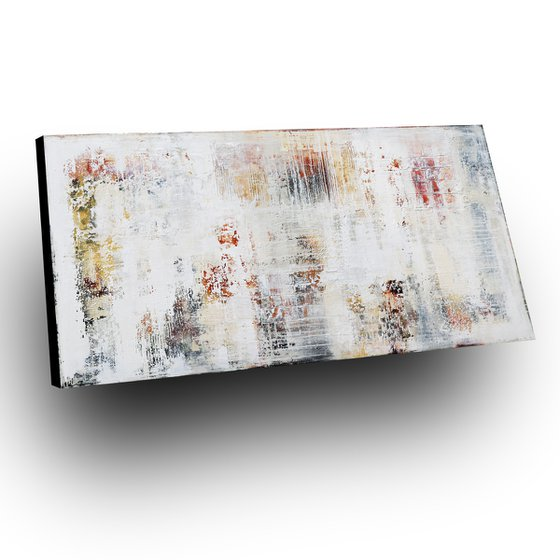 SIGNS OF THE PAST - ABSTRACT ACRYLIC PAINTING TEXTURED * LARGE FORMAT