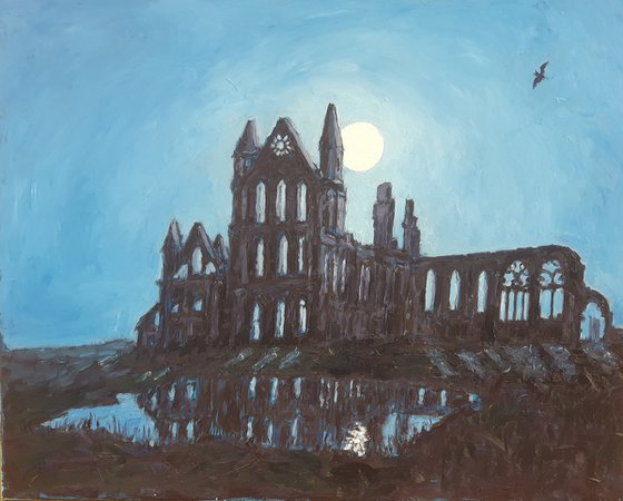 Whitby Abbey by moonlight