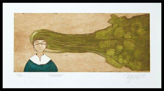Dreamer, aquatint etching