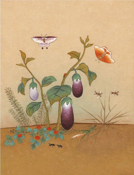 Eggplant & Grasshopper