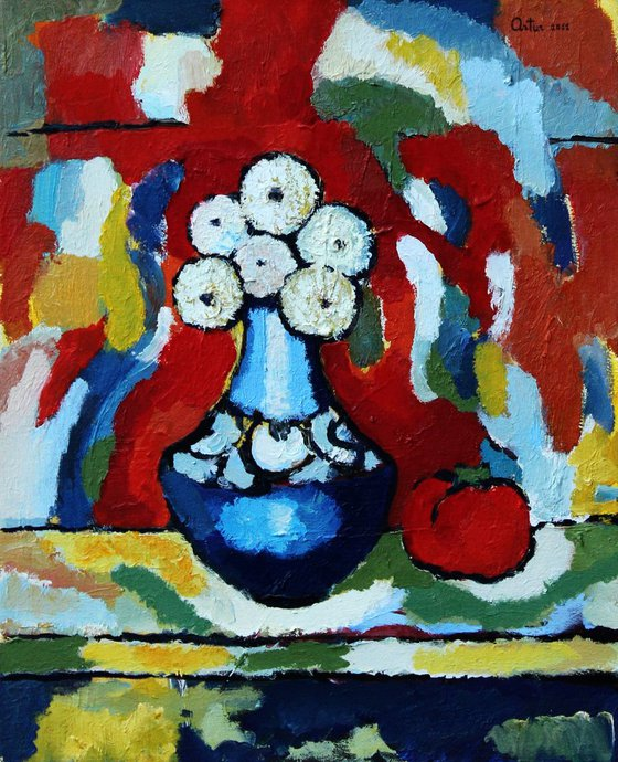 Blue Vase (40x50 cm)
