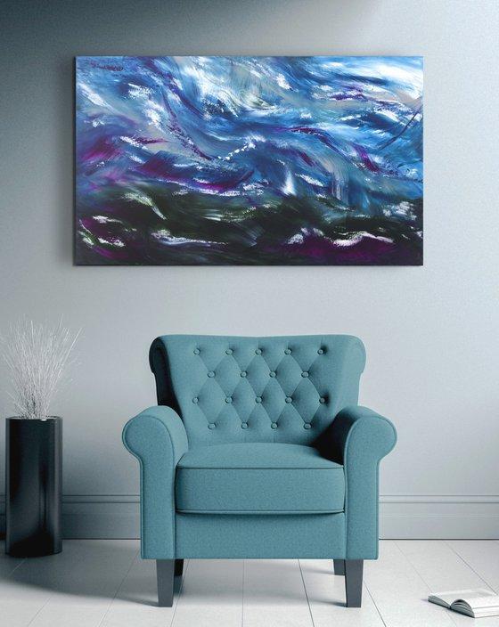 My stormy sea , 100x60 cm
