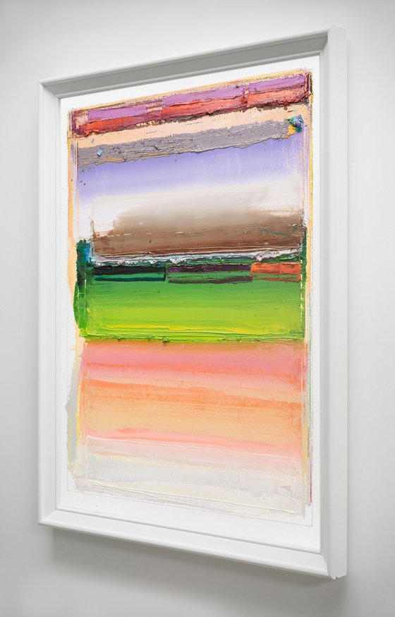 Modern Abstract Oil Painting, NO PP #117, 30x40cm, Framed and Ready to Hang
